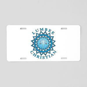 Lumbee Christian Aluminum License Plate