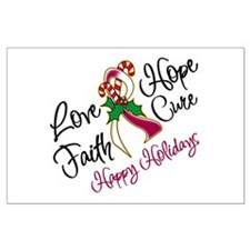Holiday Hope Throat Cancer Large Poster