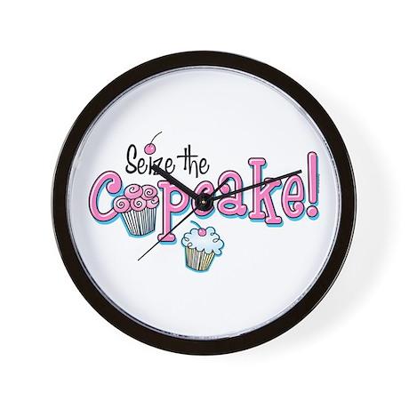 Seize The Cupcake Wall Clock