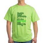 Resist Peer Pressure Green T-Shirt