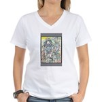 Media ID Women's V-Neck T-Shirt