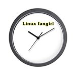 Linux fangirl Wall Clock