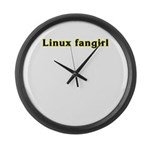 Linux fangirl Large Wall Clock