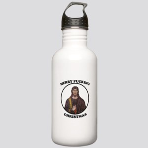 Merry F-ing Christmas-light Stainless Water Bottle