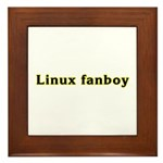 Linux fanboy Framed Tile