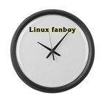 Linux fanboy Large Wall Clock
