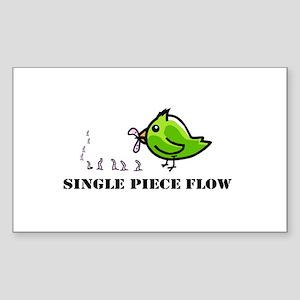 Single Piece Flow Sticker