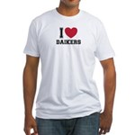 I Love Daikers Fitted T-Shirt