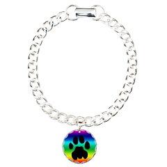 Cougar Mountain Lion Puma Charm Bracelet Rainbow