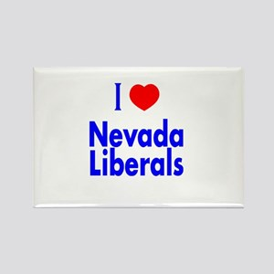 I Love Nevada Liberals Rectangle Magnet