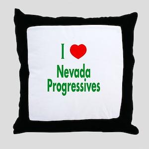 I Love Nevada Progressives Throw Pillow