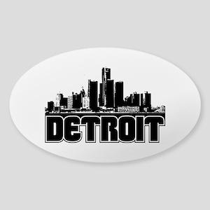 Detroit Skyline Sticker (Oval)