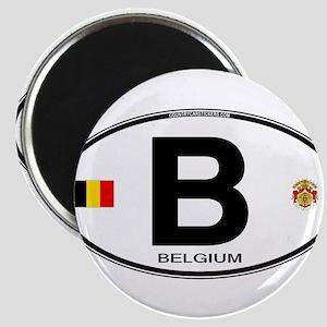 Belgium Euro Oval Magnets