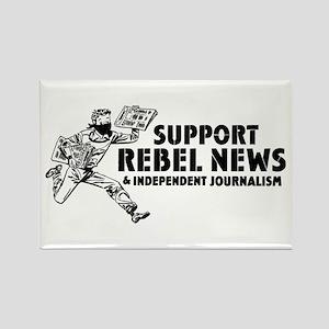 Support Rebel News Rectangle Magnet