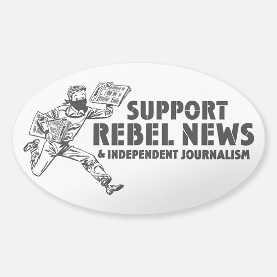 Support Rebel News Sticker (Oval)