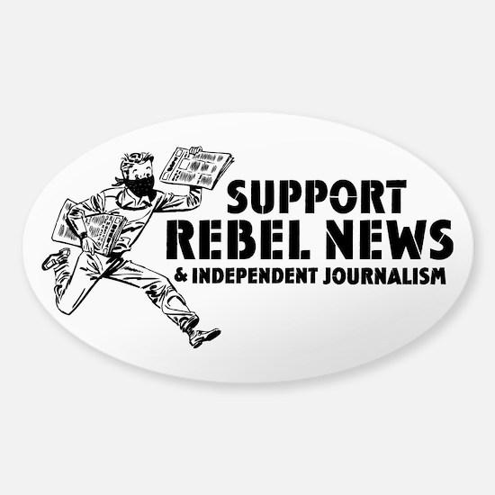 Support Rebel News Sticker (Oval)