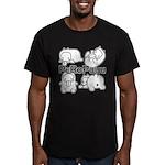 PeRoPuuu Men's Fitted T-Shirt (dark)