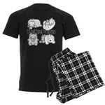 PeRoPuuu Men's Dark Pajamas