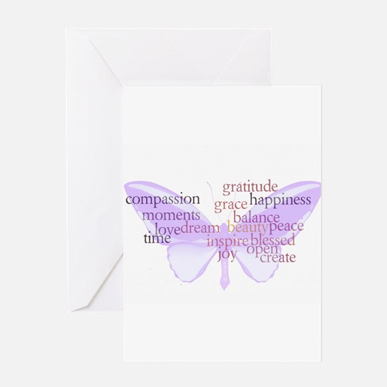Peace and Gratitude Butterfly Greeting Card