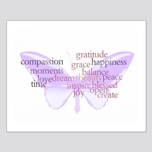 Peace and Gratitude Butterfly Small Poster