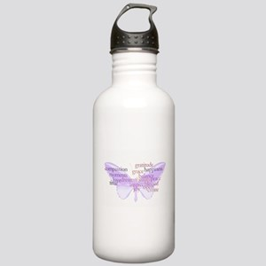 Peace and Gratitude Butterfly Stainless Water Bott