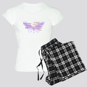 Peace and Gratitude Butterfly Women's Light Pajama