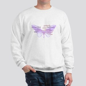 Peace and Gratitude Butterfly Sweatshirt