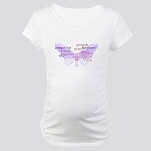 Peace and Gratitude Butterfly Maternity T-Shirt