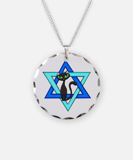Jewish Cat Stars Necklace
