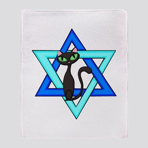 Jewish Cat Stars Throw Blanket