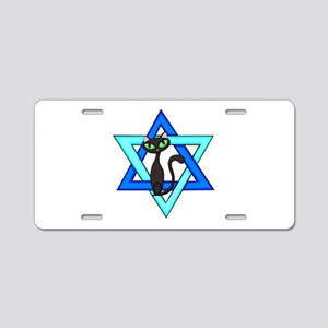 Jewish Cat Stars Aluminum License Plate