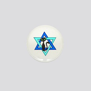 Jewish Cat Stars Mini Button