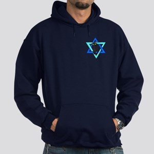 Jewish Cat Stars Hoodie (dark)