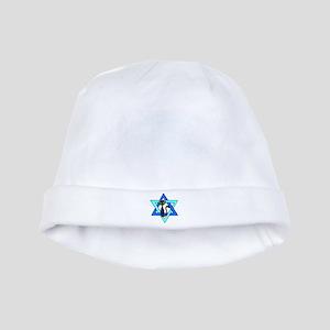 Jewish Cat Stars baby hat