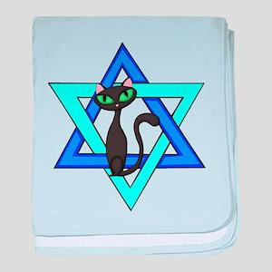 Jewish Cat Stars baby blanket