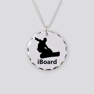 iBoard Necklace Circle Charm