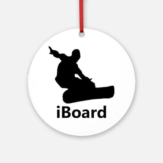 iBoard Round Ornament