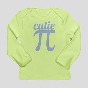 Cutie Pi Blue Long Sleeve Infant T-Shirt