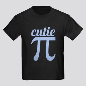 Cutie Pi Blue Kids Dark T-Shirt