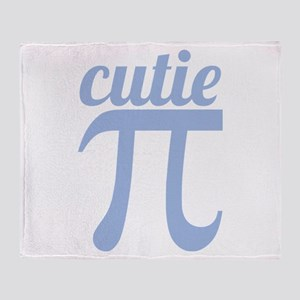 Cutie Pi Blue Throw Blanket