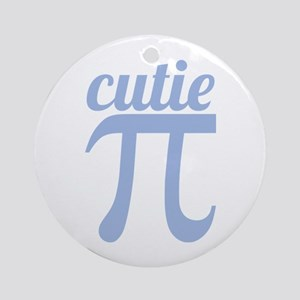 Cutie Pi Blue Ornament (Round)
