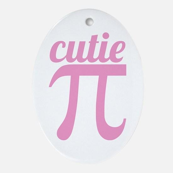 Cutie Pi Pink Ornament (Oval)