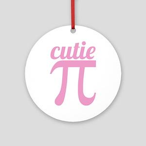 Cutie Pi Pink Ornament (Round)