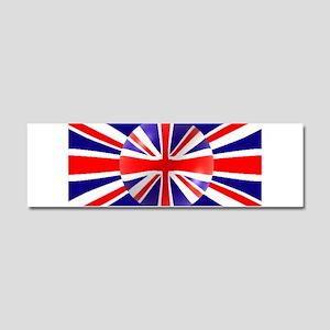 Union Jack Flag Design Car Magnet 10 x 3