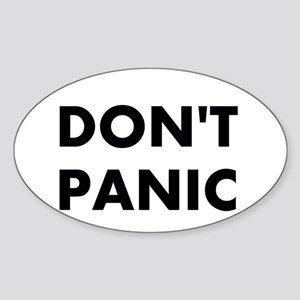 Don't Panic Sticker (Oval)