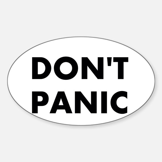 Don't Panic Sticker (Oval)
