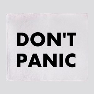 Don't Panic Throw Blanket