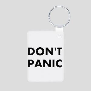 Don't Panic Aluminum Photo Keychain