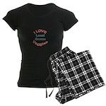 I Love Local Veggies Women's Dark Pajamas