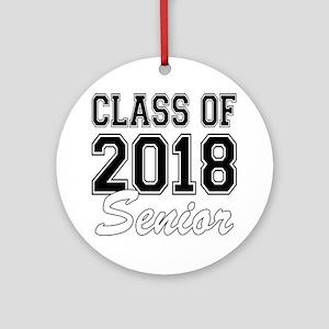 Class of 2018 Senior Round Ornament